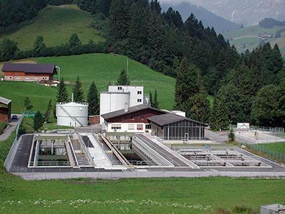 Abwasserreinigungsanlage Saanen nach dem Ausbau 2003 - 2005
